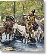 Fur Trapper Metal Print