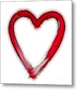 Furry Heart - Symbol Of Love Metal Print
