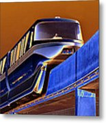 Future Monorail Metal Print