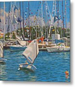 Future Yacht Racers Metal Print