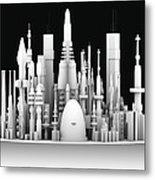 Futuristic Cityscape, Artwork Metal Print