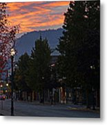 G Street Sunrise In Our Town Metal Print