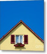 Gable Of Beautiful House In Front Of Blue Sky Metal Print