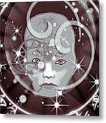 Galactic Face Metal Print