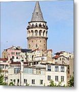 Galata Tower In Istanbul Metal Print