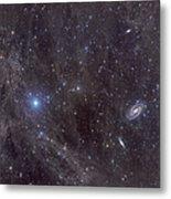 Galaxies M81 And M82 As Seen Metal Print by John Davis