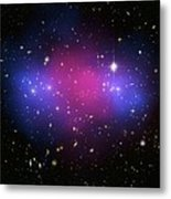 Galaxy Cluster Collision, X-ray Image Metal Print by Nasaesacxcstscim. Bradac And S. Allen