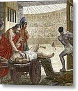 Galen Treating A Gladiator In Pergamum Metal Print
