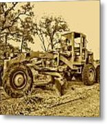 Galion Road Grader V2 Metal Print
