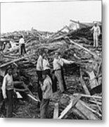 Galveston Disaster - C 1900 Metal Print