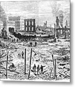 Galveston: Fire, 1877 Metal Print