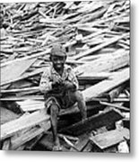 Galveston Flood Survivor - September - 1900 Metal Print by International  Images
