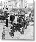 Galway Ireland - The Market At Eyre Square - C 1901 Metal Print