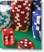 Gambling Dice Metal Print