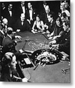 Gambling In Monte Carlo, On The French Metal Print by Everett