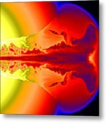 Gamma Ray Burst Formation Metal Print by Weiqun Zhangstan Woosley