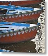 Ganges River, Varanasi, India Moored Metal Print