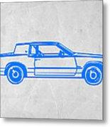 Gangster Car Metal Print by Naxart Studio