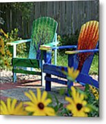Garden Chairs Metal Print