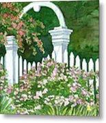 Garden Circle Gate Metal Print