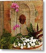 Garden Deco Metal Print