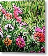 Garden Flowers Sketchbook Project Down My Street Metal Print