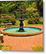 Garden Fountain 03 Metal Print
