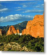 Garden Of The Gods Front Side View Metal Print