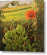 Garden Poppies Metal Print
