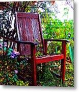 Garden Seating Metal Print