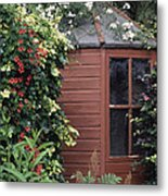 Garden Shed Metal Print by Archie Young