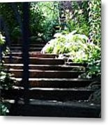 Garden Stairs Metal Print