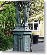 Garden Statuary In The French Quarter Metal Print