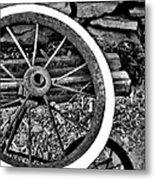 Garden Wheel Metal Print