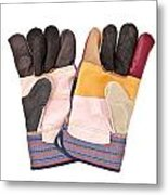 Gardening Gloves Metal Print by Tom Gowanlock