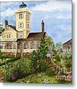 Gardens At Hereford Inlet Lighthouse  Metal Print