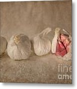 Garlic And Textures Metal Print
