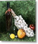 Garlic And The Apples Metal Print