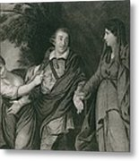 Garrick Between Tragedy And Comedy Metal Print
