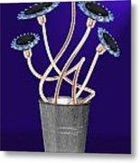 Gas Flowers Metal Print