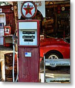 Gas Pump - Texaco Gas Globe Metal Print