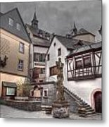 Gasthaus And Church-colour Metal Print