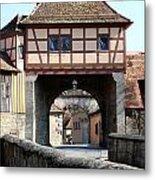 Gate House - Rothenburg Metal Print