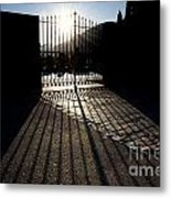 Gate In Backlight Metal Print