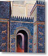 Gate Of Ishtar, Babylonia Metal Print by Photo Researchers
