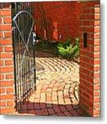 Gateway To A Garden Metal Print