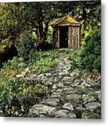 Gazebo And Path, Ballinlough Castle, Co Metal Print