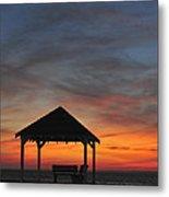 Gazebo At Sunset Seaside Park, Nj Metal Print
