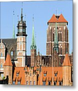 Gdansk Old Town In Poland Metal Print