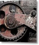 Gear Wheel Metal Print